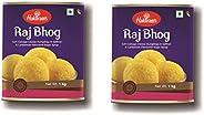 Haldiram's Raj Bhog 1 Kg X 2 Tin Box