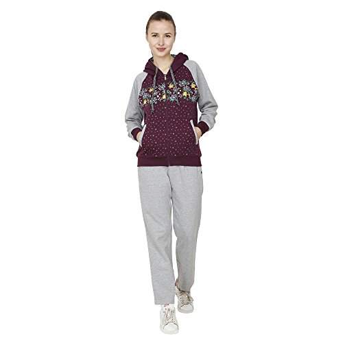 Strak Purple Cotton Track Suit For Women Size:- XL  available at amazon for Rs.749