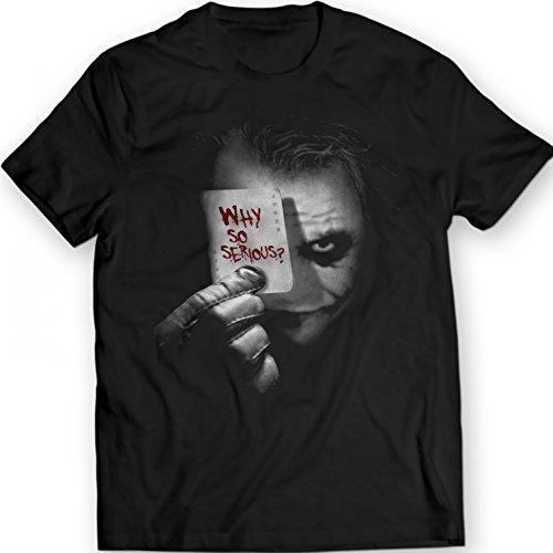 The Joker - Why so Serious? Camiseta Movie Comics Batman DarKnight (XL, Negro)