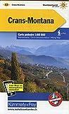 Crans-Montana Wanderkarte Nr. 32 Matt Laminiert 1:60 000: 1:60 000, waterproof, Matt Laminiert Freemap on Smartphone included (Kümmerly+Frey Wanderkarten)