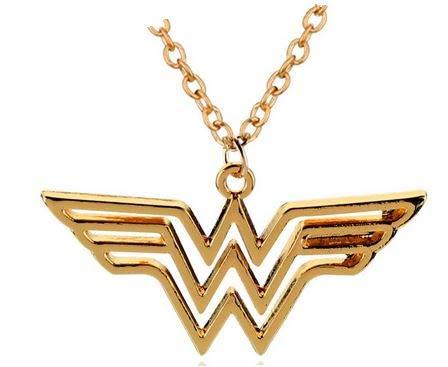 WAY2BB - Halskette Wonder Woman vergoldet DC - Halloween-kostüme Woman Wonder Baby Für