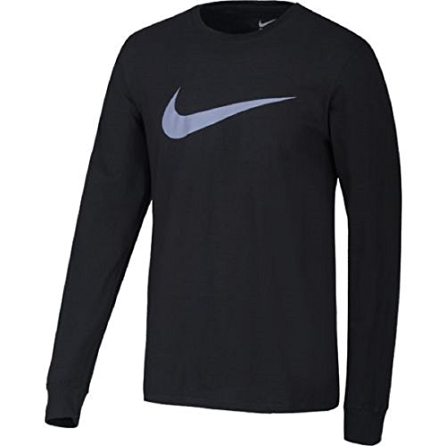 Nike Herren Tee-LS Icon Swoosh Langarm-Trainingsoberteil, Schwarz, XL (Tee Long Athletic Sleeve)