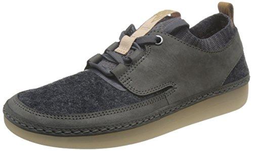Damen Sneakers Halbschuhe von Clarks Nature IV Dark Grey Combi 26127652 Grau