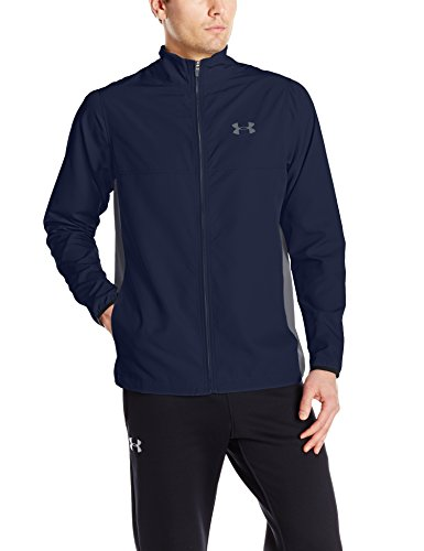 Under Armour Herren Fitness Sweatshirt UA Vital Woven Warm Up Midnight Navy, XL Woven Warm Up Jacket