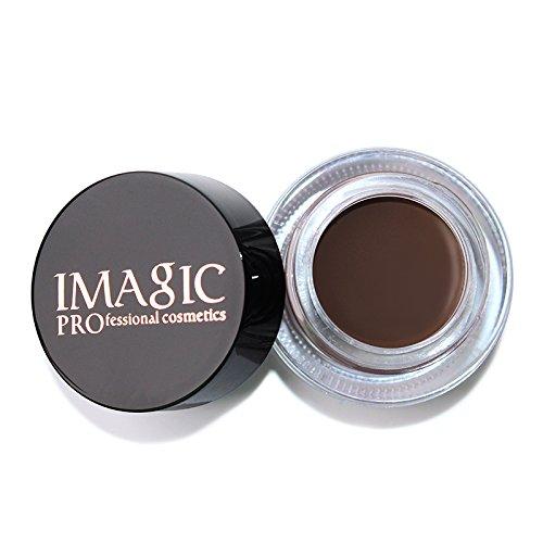Dauerhafte Augenfarbe (UmayBeauty Anti-Schweiß-Augenbraue-färbende Creme-wasserdichte Augenbrauen-Paste mit Pinsel)