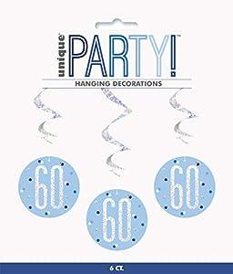 Unique Party- Adornos, Color blue & silver (83801)