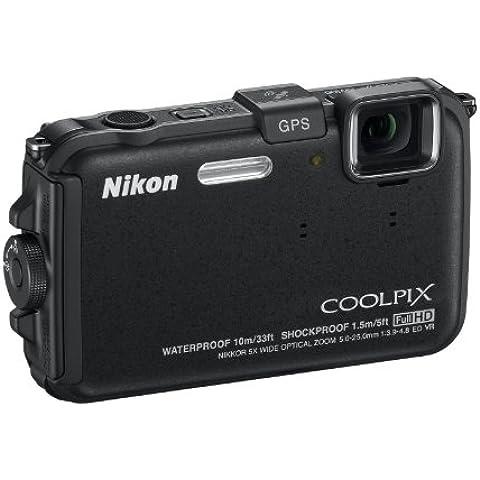 Nikon Coolpix AW100 Fotocamera Digitale Compatta, 16,1 Megapixel, Zoom 5X, 3200 ISO, LCD 3