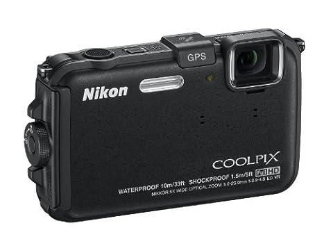 Nikon Coolpix AW100 Outdoor-Digitalkamera (16 Megapixel, 5-fach opt. Zoom, 7,5 cm (3 Zoll) Display, bildstabilisiert, wasserdicht bis 10m, kälteresistent, GPS) schwarz