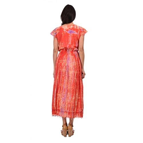 Zen*Ethic - Robe Longue Tie and Dye - Voile de coton Rouge