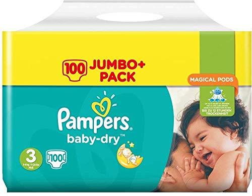 Pampers Baby-Dry Windeln Größe 3100Jumbo Pack