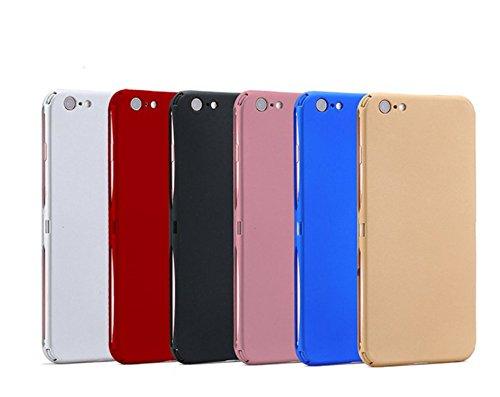 Coque iPhone 6/6S 360 Degres + Protection en Verre Trempé [ Anti-Choc ] Housse Etui PC Avant + Arrière Protection avec Absorption de Choc Bumper et Anti-Scratch Rouge