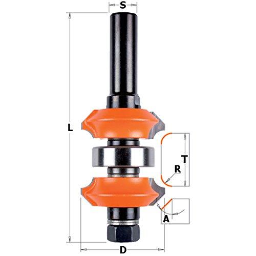 CMT Orange Tools 900,623,11 Fraise hw réglable de 12 double profil z2 s d 38 x 31,75 dx