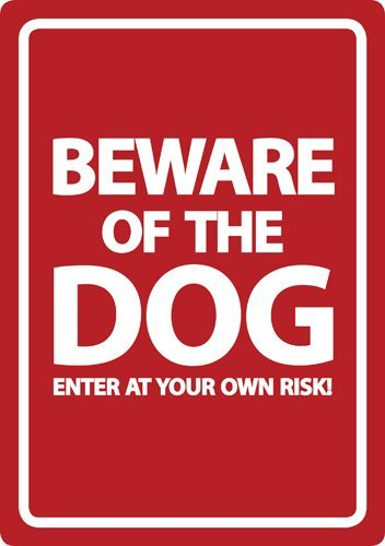 Beware of the Dog - red - Flexi A5
