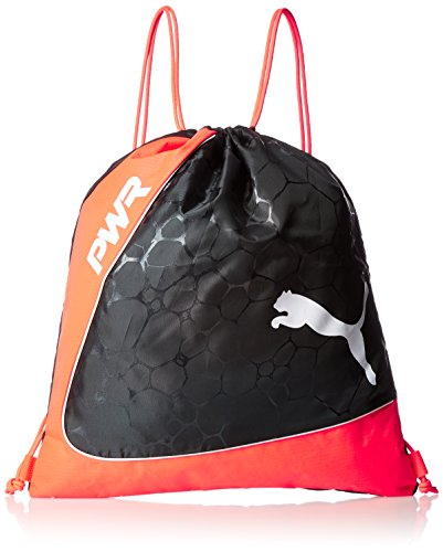 Puma Evopower Gym Saco Turn Bolsa, unisex, evoPOWER Gym Sack, fiery coral-puma black-puma white, UA