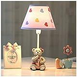 CJW Cub Captain LED Kindertischlampe Schlafzimmer Nachttischlampe Warm Creative Romantisch Mediterraner Stil (Rosa)
