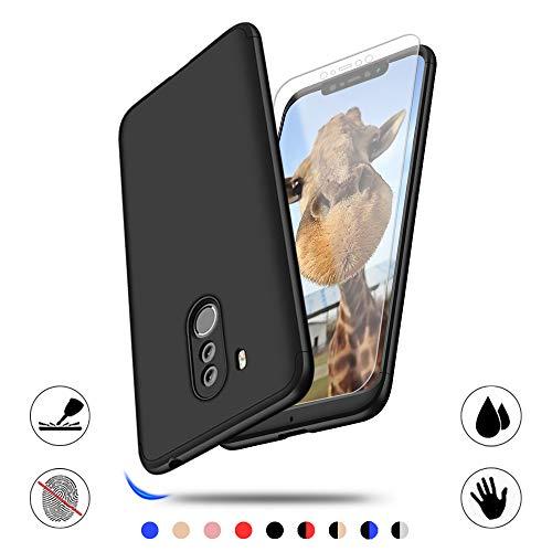 Xiaomi Pocophone F1 Hülle mit Hartglas, AChris 360 Grad Handyhülle Bumper Case Robust Schutzhülle Cover mit Bildschirmschutz Schutzhülle Backcover für Xiaomi Pocophone F1