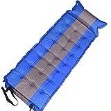 TZTED Selbstaufblasbare Matratzen Tragbare Ultraleichte Aufblasbare Isomatte mit Kopfkissen Sleeping Pad Für Camping Reise Outdoor,Black