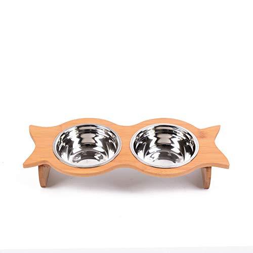 ZRSA Haustier rutschfeste Futternapf Wassernapf Keramik Edelstahl Niedliche Mode Sicherheit Exquisite und langlebig Leicht zu reinigen eine Vielzahl von optionalen Katzen- und Hundebedarf (Easy Access Kostüm)
