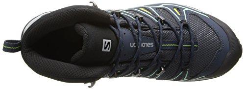 Salomon Ultra Mid 2 GTX - Scarpe Basse da Trekking/Camminata Donna Grey Denim/Deep Blue/Lucite Green