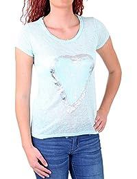 Madonna T-Shirt Damen KAYLEE Rundhals Shirt mit Herz Aufdruck MF-741200