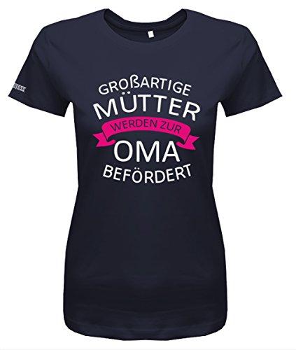 Jayess Großartige Mütter Werden zur Oma befördert - Damen T-Shirt in Navy by Gr. XXL