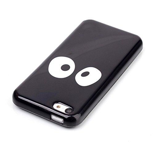 Voguecase® Pour Apple iphone 5C, TPU Silicone Shell Housse Coque Étui Case Cover (Stripe 02)+ Gratuit stylet l'écran aléatoire universelle gros yeux 01