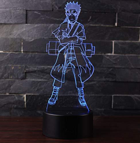 3D LED Lampe Nachtlicht, CKW 7 Farben Wählbar Dimmbare Touch Schalter Nachtlampe für Kinder Weihnachten Geburtstag beste Geschenk Spielzeug (Naruto)