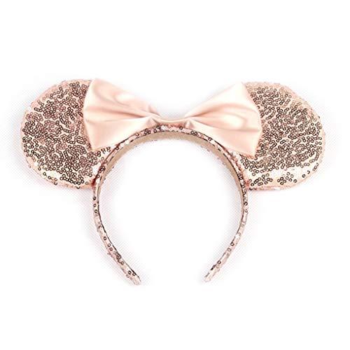 Nette Mickey Ohren Stirnband GIitter Pailletten Schmetterling-Haar-Band Für Festival-Feiertag - Maus-markt Minnie
