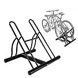 INION MHBB5012 - Fahrradhalter für 2 Fahrräder Fahrradständer Freistehend Montageständer Reparaturständer Fahrradparkplatz Ständer Fahrrad Bike Halterung Bodenständer/chiavi