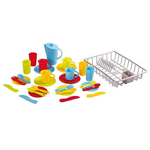 Playgo - Vajilla y escurreplatos de juguete (30 piezas)