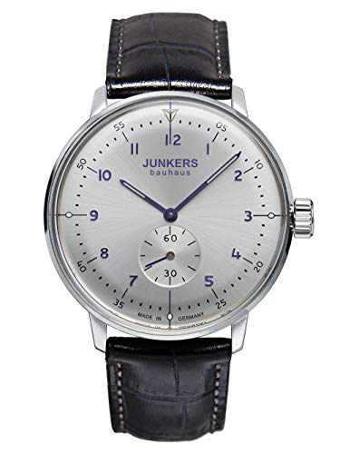 Junkers Men's Watch ETA Hand Wind Bauhaus Style Small Second Made in Germany 6030-4