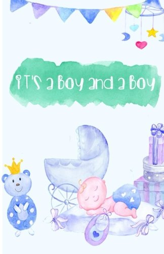 """It's a boy and a boy: (mini book) 5.5"""" x 8.5"""", 132 Pages, Blank Unlined Paper for Sketching, Drawing, Writing, Journaling & Doodling (Kids Sketchbooks)"""