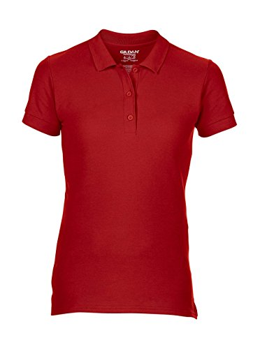Gildan: Premium Cotton Ladies` Double Piqué Polo 85800L, Größe:2XL;Farbe:Red (Polo Womens Pique Premium)