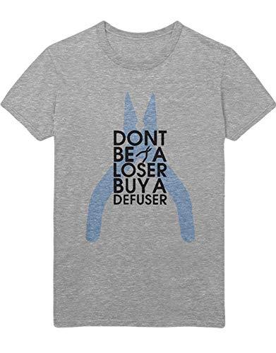 HYPSHRT Herren T-Shirt Buy a defuser Z100154 Grau S (Defusers Flash)