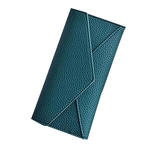 HARRYSTORE Frauen Tägliche Gebrauch Kupplungs Handtaschen Kupplungs Geldbeutel Lange Art Mappe (Grün)
