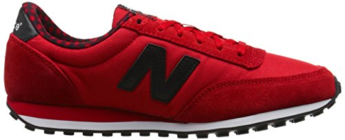 New Balance Womens 410 Buffalo Plaid Classics Traditionnels Textile Trainers Rouge Noir