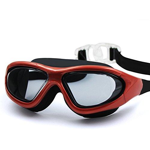 ZHAGOO Schwimmen Gläser - Schutzbrillen HD Anti-Nebel-Männer Und Frauen Großen Rahmen Erwachsenen Galvanik Professionelle Tauchausrüstung, - Schwimmen-schutzbrillen Große