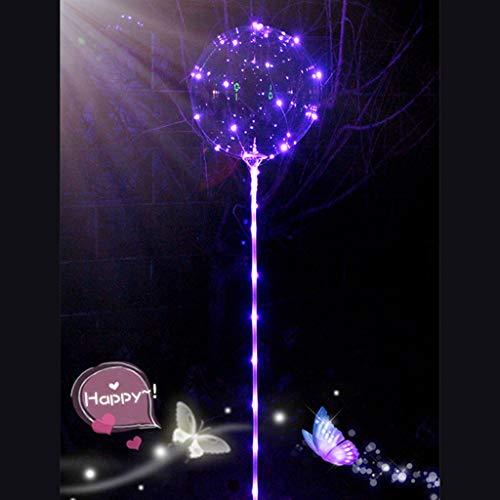 Mitlfuny Karnevalsparty Fancy Festival Zubehör,Wiederverwendbare leuchtende geführte Ballon-transparente runde Blasen-Dekorations-Party-Hochzeit
