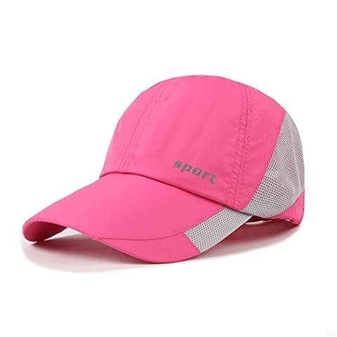 Lightweight Run Baseball Hat Outdoor Sport cap (Sport Series, Pink)