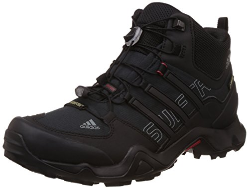 adidas - Terrex Swift R Mid GTX, Scarpe da Trekking da Uomo, Nero (Core Black/Vista Grey s15/power Red), 47.3333333333333
