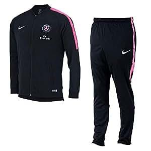 Nike PSG M NK Dry SQD TRK Suit K Trainingsanzug Herren Mehrfarbig (Black/Black/Hyper PINK/White)
