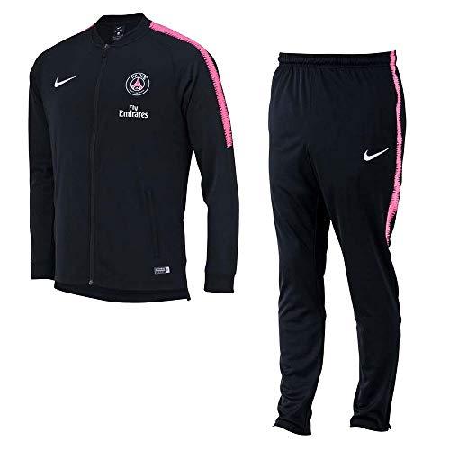 Nike PSG Y NK Dry SQD TRK Suit K - Chándal, Unisex Infantil, (Black/Black/Hyper Pink/White)