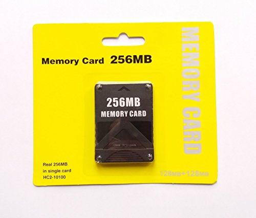 256MB Memory Card PS2 PlayStation 2 Speicherkarte 256 MB (128MB + 128MB 2x 128MB))