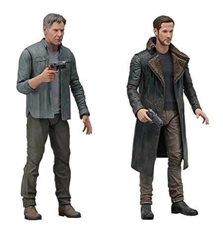 Blade Runner 2049 – Serie 1 Action Figuren 18cm – Set of 2 feat. Deckard (Harrison Ford) & Officer K (Ryan Gosling)