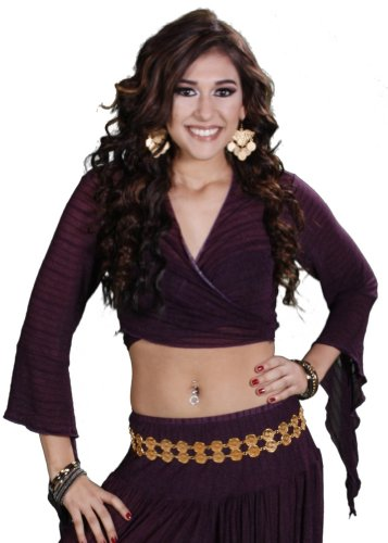 Miss Belly Dance Belly Dance Choli Top - Purple - Medium/Large