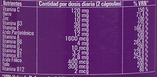 Complejo vitamínico con minerales, vitamina C, vitaminas B2, B3, B5, B6 y B12 y hierro -...