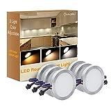Onforu LED Unterbauleuchte mit 3 Farbtemperatur, Dimmbar Licht 6er Set für Küche, 1080lm Schrankleuchte, Küchenlampe mit Stecker, Vitrinenbeleuchtung 12V DC inkl. alle Zubehöre