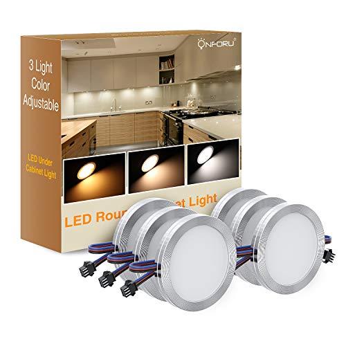 Onforu 6× LED Luz Mueble Cocina, Ajustable Temperatura de Color y Brillo...