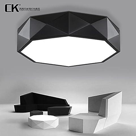 DKRFJ Minimalista moderno soffitto circolare di personalità di luce soggiorno lampada illumina i bambini Camere da letto lampada ristorante,White Box-51CmNo di poli