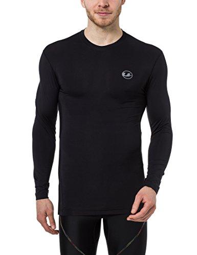 Ultrasport Herren Kompressionsshirt Ben, lang, Fitness Funktionsshirt, atmungsaktiv, Schwarz, L